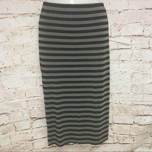 Vince CAMUTO Olive&Black Stripe Pencil Skirt-S